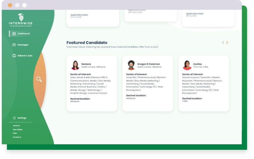Promote your profile to Internwise Employers